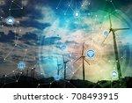 renewable energy and... | Shutterstock . vector #708493915
