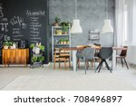 chalkboard accents and... | Shutterstock . vector #708496897