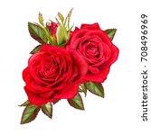 flower composition. a bud of a... | Shutterstock . vector #708496969