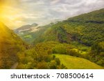 beautiful autumn norway... | Shutterstock . vector #708500614