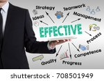 effective concept. man holding... | Shutterstock . vector #708501949