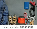 Top View Of Climbing Equipment...