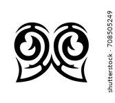 tribal tattoo art designs.... | Shutterstock .eps vector #708505249