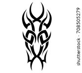 tribal tattoo art designs.... | Shutterstock .eps vector #708505279