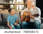 loving grandfather playing... | Shutterstock . vector #708508171