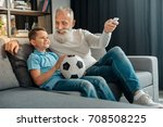 man turning air conditioning on ...   Shutterstock . vector #708508225