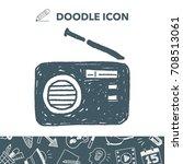 radio doodle | Shutterstock .eps vector #708513061