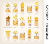 set of different kinds of... | Shutterstock .eps vector #708514699