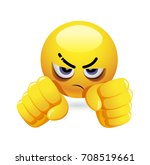 smiley holding his fists in...   Shutterstock .eps vector #708519661