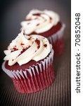 Red Velvet Cupcakes With Cream...