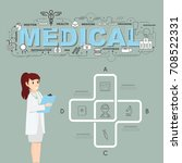physician with medical icons of ... | Shutterstock .eps vector #708522331