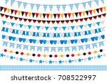 oktoberfest set of flags ... | Shutterstock .eps vector #708522997