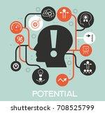 potential design concept.... | Shutterstock .eps vector #708525799