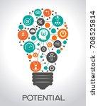 potential design concept.... | Shutterstock .eps vector #708525814
