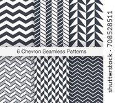 set of 6 chevron seamless...   Shutterstock .eps vector #708528511