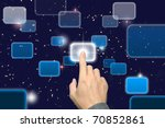hand pushing a button on a... | Shutterstock . vector #70852861