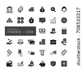 business finance icons set ... | Shutterstock .eps vector #708533317