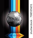 3d illustration of silver disco ... | Shutterstock .eps vector #708535651