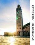 hassan ii mosque  casablanca ... | Shutterstock . vector #708536185