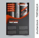 red and black flyer vector... | Shutterstock .eps vector #708536614