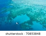Aerial View Of Great Barrier...