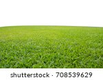 fresh green grass lawn isolated ... | Shutterstock . vector #708539629