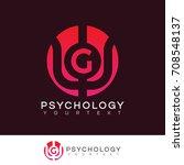 psychology initial letter g... | Shutterstock .eps vector #708548137