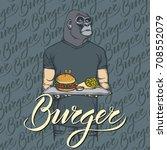fast food vector concept.... | Shutterstock .eps vector #708552079