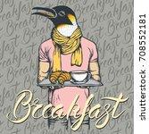 breakfast vector concept.... | Shutterstock .eps vector #708552181