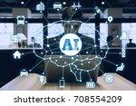 ai  artificial intelligence ... | Shutterstock . vector #708554209