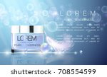 cosmetics  glass  realistic... | Shutterstock .eps vector #708554599