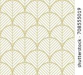 geometric gold seamless pattern.... | Shutterstock .eps vector #708555019