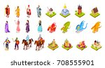 set of medieval characters... | Shutterstock .eps vector #708555901