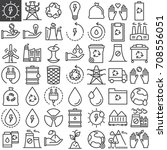 ecology line icons set  outline ... | Shutterstock .eps vector #708556051