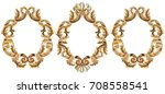 vintage baroque frame decor.... | Shutterstock .eps vector #708558541