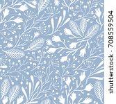 vector floral seamless pattern ...   Shutterstock .eps vector #708559504