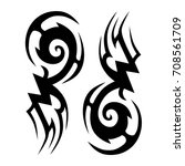 tattoo tribal vector design.... | Shutterstock .eps vector #708561709
