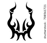 tattoo tribal vector design.... | Shutterstock .eps vector #708561721