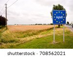 road sign indicating the border ...   Shutterstock . vector #708562021