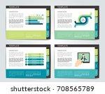 slide template. vector... | Shutterstock .eps vector #708565789