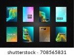a4 brochure cover mininal... | Shutterstock .eps vector #708565831