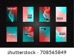 a4 brochure cover mininal... | Shutterstock .eps vector #708565849