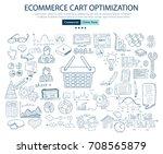 ecommerce cart optimization... | Shutterstock .eps vector #708565879
