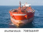 the oil tanker in the high sea | Shutterstock . vector #708566449