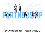 partnership. business concept... | Shutterstock .eps vector #708569029