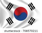 south korea flag background... | Shutterstock .eps vector #708570211