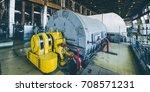 steam turbine at power plant | Shutterstock . vector #708571231