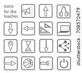 set of flat buttons megaphone ... | Shutterstock .eps vector #708572479