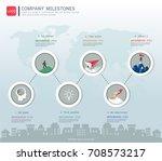 milestone timeline infographic... | Shutterstock .eps vector #708573217