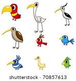 cartoon bird icon | Shutterstock .eps vector #70857613